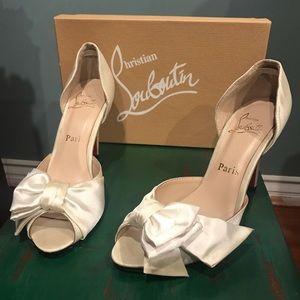 Christian Louboutin satin heels